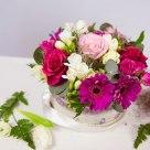 Flori: gerbera, trandafiri, frezii și miniroze; Preț: 156 lei.