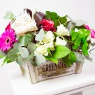 Flori: minigerbera, miniroze și trandafiri; Preț: 157 lei.